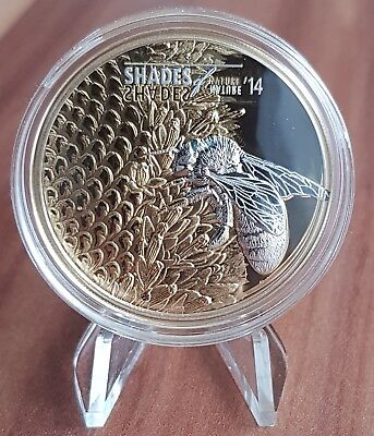 Cook Islands Bee Honey 2014 Shades Of Nature 5$ Silver Coin