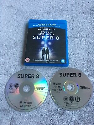 Super 8 (Blu-ray and DVD Combo, 2011, 2-Disc Set) Excellent Condition