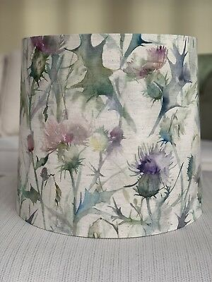 Handmade Tapered Empire Lampshade Voyage Highland Thistle Fabric, Standard Lamp