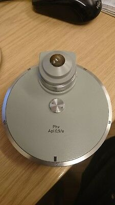 Carl Zeiss microscope phase contrast condenser Phv Apl 0,9/e