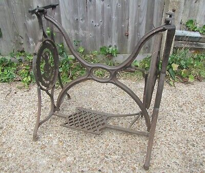 Old Cast Iron SINGER Sewing Machine Treadle Base