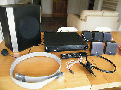 Lg Ht302Sd-D0 Dvd Home Cinema System ( Lg Sh32Sd-W ) With Speakers