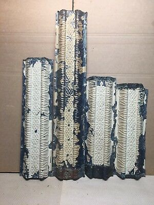 """4pc Lot of 35"""" by 6.5"""" Antique Ceiling Tin Vintage Reclaimed Salvage Art Craft"""