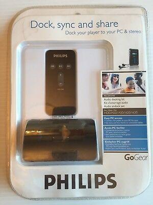 Philips GoGear A/V Audio Docking Kit for HDD1420 1620 Model PAC0003 Brand New
