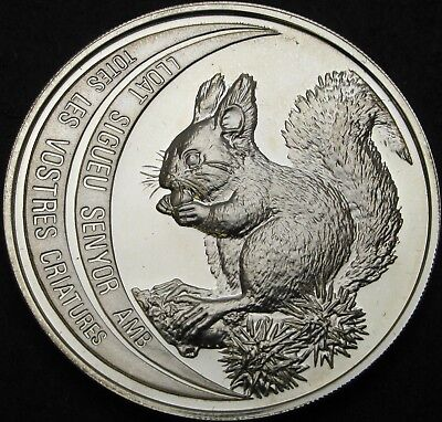 ANDORRA 10 Diners 1992 Proof - Silver - Red Squirrel - 1926 ¤