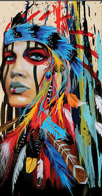 CHOP256 abstract Indian girl modern art hand-painted oil painting on canvas