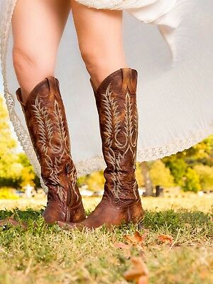 801fe5774fe OLD GRINGO MAYRA Women's Handmade Tall Boot Brown Embroidered, Size ...
