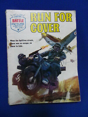 Battle Picture Library War Stories Comic No124 Run For Cover 1/-