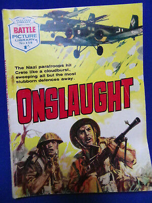 Battle Picture Library War Stories Comic No138 Onslaught 1/-