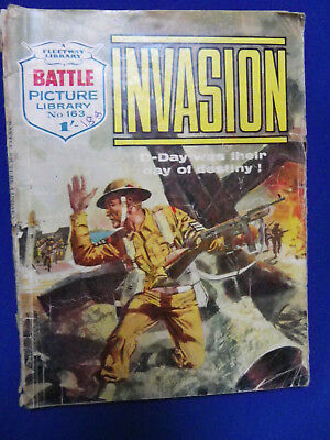 Battle Picture Library War Stories Comic No163 Invasion 1/-