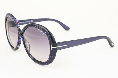 ea3e75e0c8 TOM FORD GISELLA TF388 50F 58 15 140 •2 Round SunGlasses High End ...