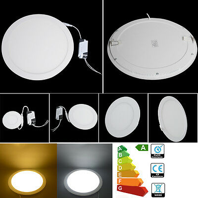 6W LED Recessed Round Ceiling Panel Downlight Bulb Slim Warm White Lamp Fixture