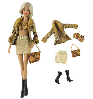 Doll L45 1 Set Fashion Handmade Doll Clothes Outfit for 11.5 in 12 in