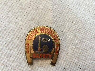 New York Worlds Fair 1939 Safety Pin