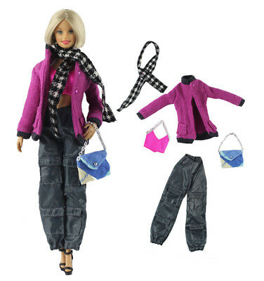 1 Set Fashion Handmade Doll Clothes Outfit for 11.5 in. 12 in. Doll L42