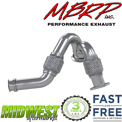 """Magnaflow 15415 Stainless Steel 2-Piece Turbo 4/"""" Downpipe for 03-07 Ford 6.0L"""