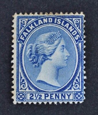 Falkland Islands, QV, 1894, 2 & 1/2d. ultramarine value, SG 30, MM, Cat £50.