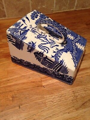 Willow Ware Pattern Cheese Cover - Unmarked