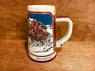 VINTAGE 1989 Holiday Budweiser Collectible Beer Stein *NEW* *Authentic*