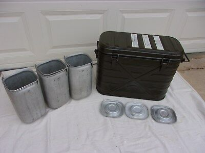 US GI Marmite Can [Insulated Food Container] with Inserts--1982 Date NICE