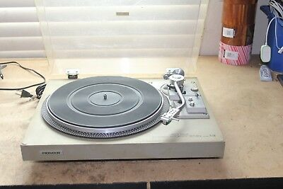 Vintage PIONEER PL-518 Direct Drive Turntable Record Player Works Decent Shape