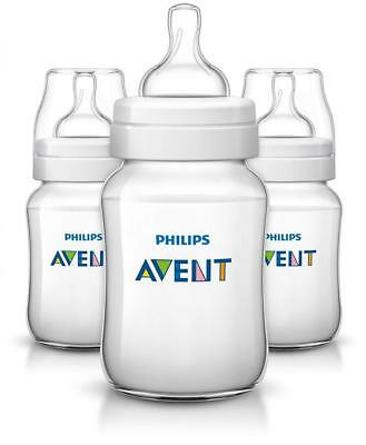 Philips Avent SCF563/37 Classic+ Baby Feeding Bottle 260ml/9oz (Pack Of 3)