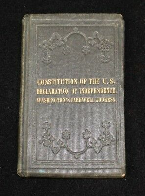 Pocket size book containing US CONSTITUTION and DECLARATION OF INDEPENDENCE 1813
