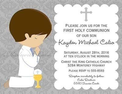 35 Blank First Holy Communion Invitations Boy 15 00 Picclick