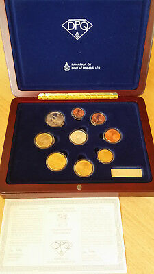 EURO KMS FINNLAND 2003 Diamond Proof Quality PP mit Silber Diamant Coin Set