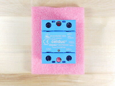 BRAND NEW - Celduc SO765090 Solid State Relay 24-510VAC 50A
