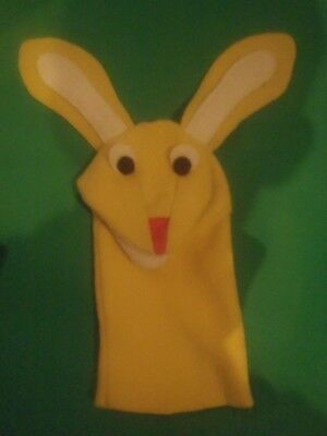 2018 Replica of Rare Vintage yellow sunny bunny puppet as seen in Baby Einstein
