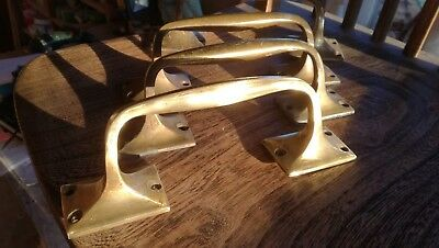 Vintage Reclaimed Solid Brass Door shop Pull Handles
