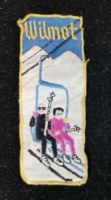 Vtg 1950s Wilmot Mountain Ski Resort Wisconsin Embroidered Souvenir Patch RARE