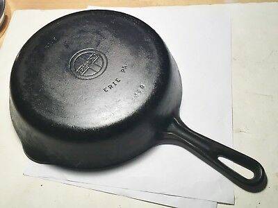 Antique Griswold Cast Iron Skillet No.6 Erie Pa. U.S.A. 699 Original And Beauty!