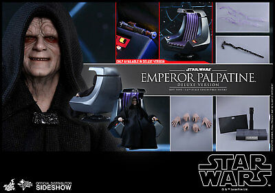 "Hot Toys 12"" Star Wars Return Of The Jedi Emperor Palpatine Deluxe Throne 1/6"