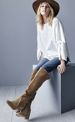3b71faaca70 New Vince Camuto Melaya Suede Over The Knee Boots Bark Tan Brown Size 9.5