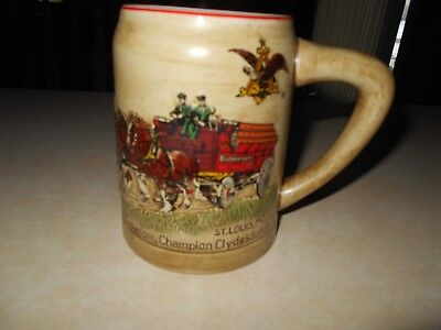 Budweiser St. Louis Mo.champion Clydesdale  Mug Made In Brazil