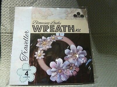 "Craftwork Cards Blooming Lovely Wreath ""Traveller"" Wreath Kit 4 Wreaths"
