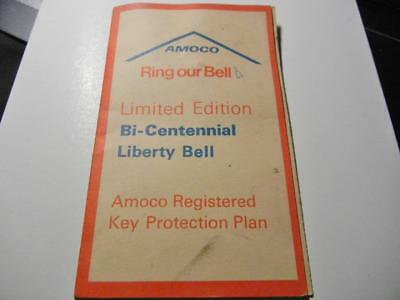 """1976 Amoco Gas Station Promo Bi-Centennial Liberty Bell Key Fob """"ring Our Bell"""""""