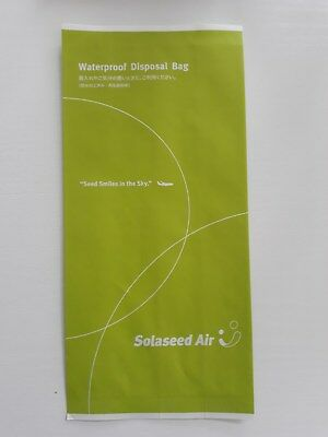 Solaseed Air sicknessbag barfbag Airline based in Japan