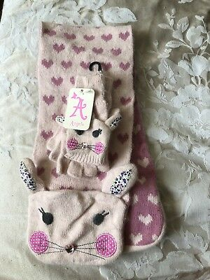 Accessorize Angels Scarf And Glove Set 6-8years