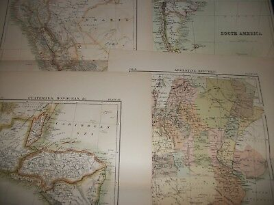 Antique Map Lot of South America & Countries