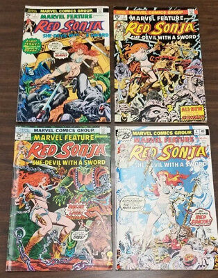 MARVEL FEATURE #1-4 presents RED SONJA (MARVEL - 1975) FINE/VERY FINE