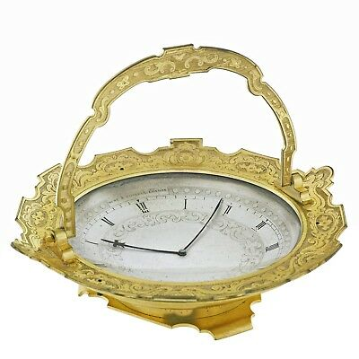 'Bon-Bon Dish' Clock by THOMAS COLE, №1630, Retailed by Hunt & Roskell, 1860s