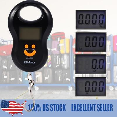 Portable  Digital LCD Display Electronic Hook Hanging Luggage Scale Weight 110lb