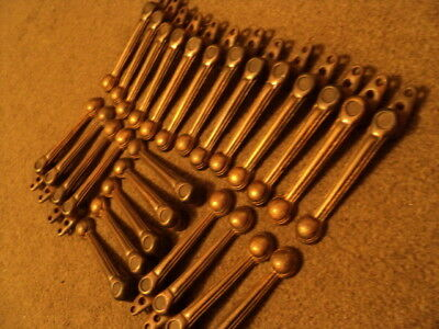 Full Set 26 Vintage Coppered Stair Carpet Grips/ Clips