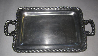 tray vintage pewter handles large serving dishes kitchenware home decor