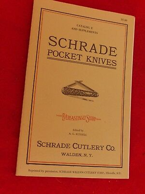 vintage AG Russell reprint of Schrade 112 page catalog-Lots of illustrations!