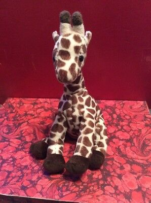 "Fabulous Ty Beanie Baby ""slamdunk"" Beige And Brown Giraffe"