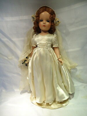 """Madame Alexander Doll-Margaret Bridesmaid  21""""doll Early 50's"""